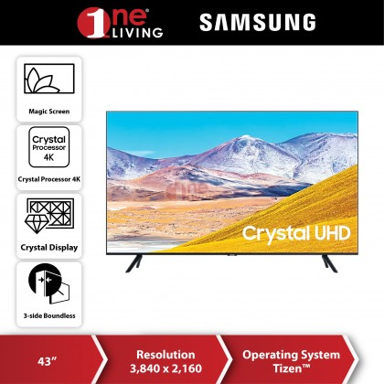 "[FREE Delivery & Standard Installation for selected area] Samsung 43"" TU8000 4K UHD Smart TV (2020) UA43TU8000KXXM"