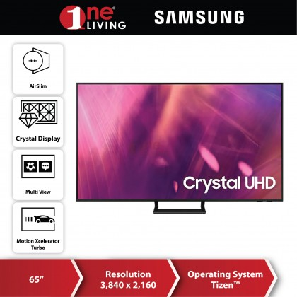 "[FREE Delivery & Standard Installation for selected area] Samsung 65"" AU9000 4K UHD Smart TV UA65AU9000KXXM (2021)"